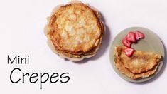 Quick/Easy Miniature Crepes - Polymer Clay Tutorial