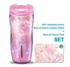 Starbucks Korea 2017 Rose of sharon tumbler 355ml + sharon Card SET #Starbucks