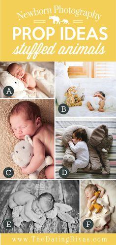 Adorable Newborn Photography Prop Ideas using Stuffed Animals