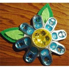 Sparkly Flower Magnet  Cool idea for Girl Scout Daisy Troops