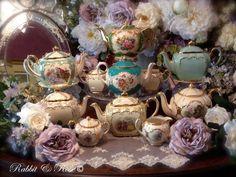 Gorgeous tea pot collection.