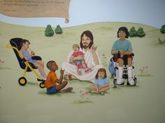 Jesus with handicapped children - McLean
