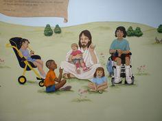 Jesus with handicapped children - McLean