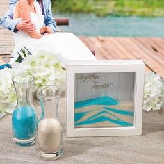 This Unity Sand Ceremony Frame. Marriage vows for bride and groom.sand ceremony for him and her wedding day. Wedding Ceremony Ideas, Beach Wedding Reception, Beach Wedding Favors, Our Wedding, Beach Weddings, Wedding Stuff, Dream Wedding, Church Weddings, Destination Wedding