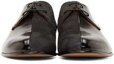 Maison Margiela Black Multi-Fabric Leather Men's Shoes