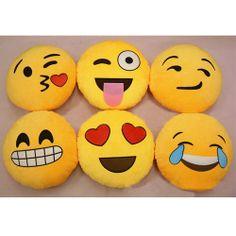 iPhone Emoji Smiley Emoticon Yellow Round Cushion Pillow Stuffed Plush Soft Toy | eBay