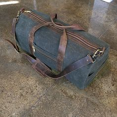 Gustin's Waxed Canvas Duffel Bag - Best Bags for Men - Esquire Best Bags, Waxed Canvas, Travel Bag, Mens Travel, Reusable Bags, Leather Working, Duffel Bags, Satchel, Mens Fashion