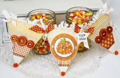 Candy Corn Banner by Melissa Phillips for Papertrey Ink (September 2013)