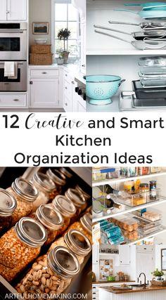 Love these 12 genius kitchen organization ideas!