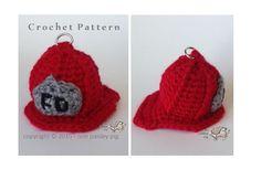 Firefighter Hat eos Lip Balm Holder  (cute crochet pattern, fun diy ideas)