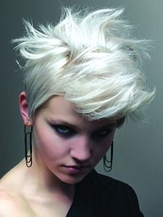 If I could pull off this punk style I would TOTALLY cut and style my hair this way--sooooo much attitude and I LOVE it :)