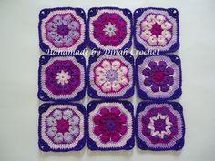 Dinah's Crochet Stuff ©: African flower squares ~ tutorial