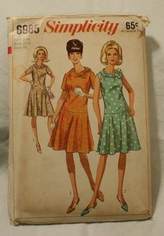 Simplicity 6985 Vintage 1960s Mod Dress by EleanorMeriwether, $5.00