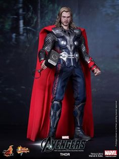 Alter Ego Comics presents The Avengers: Thor 1:6 Scale Figure by Hot Toys. Featuring an amazing likeness of actor Chris Hemsworth as Thor.