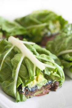 Black Bean & Avocado Lettuce Wrap...I suppose I could add turkey and make it a meal?