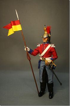 LANCERO DEL REGIMIENTO DE FARNESIO 1851/56 madelman custom