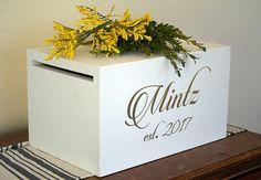 Wedding Card Box Money Box Card Holder by Woodlandedges on Etsy