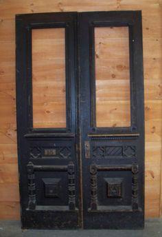 Marvelous farmhouse garage doors - make sure you visit our site for a whole lot more creative concepts! Victorian Front Doors, Vintage Doors, Antique Doors, Old Doors, Salvaged Doors, Double Doors Interior, Second Empire, Black Doors, Entrance Doors