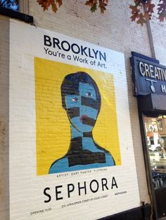 Mural advertising SEPHORA opening in Brooklyn Artwork by Gary Panter  http://proofofuse.com/post/66887532105/mural-advertising-sephora-opening-in-brooklyn (Cobble Hill, Brooklyn)