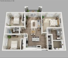 Image result for Three bedroom apartment floor plans