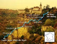 Saint Jacques de Compostelle hiking track