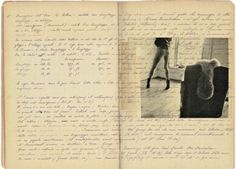 a page from the diary of the talented and tragic Francesca Woodman, young photographer who, after many self portraits in black & white and disappointed by lack of recognition for her talents, jumped from a New York window