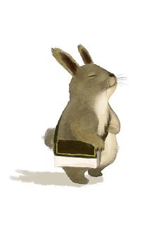 Rascal going in service! Except he liked to nibble on the magazines...Cross Body Bag Bunny | Content in a Cottage