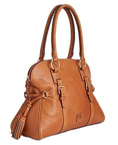 Dooney & Bourke Florentine Small Satchel Natural/Natural Trim One Size Leather Satchel Handbags, Women's Handbags, Leather Bags, Fashion Bags, Women's Fashion, Mens Gift Sets, Dooney Bourke, Handbag Accessories, Purses And Bags