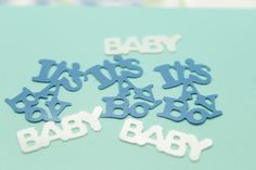 Boy BABY SHOWER NEWBRON Chirstening TABLE scatter centerpiece decoration funny blue it's a boy baby sprinkle confetti  //Price: $12.99 & FREE Shipping //     babyshowerdeals #babyroom #gift #baloons #babyshower #ideas #babies #baby #decor #roomdecor #babygirl #babyboy