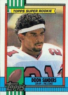 1990 Topps #469 Deion Sanders - Atlanta Falcons (Football Cards) by Football Cards. $0.01. 100,000s of Sports Cards Listed Here. Most Cards Shipped in Soft Sleeve and/or Top Load (See Shipping). Any Questions or Better Image Needed - Please Ask the Seller. Card Condidtion is Near Mint (NM) or Better, unless otherwise stated. Listing is for (1) One Single NFL Football Trading Card. 1990 Topps #469 Deion Sanders - Atlanta Falcons (Football Cards)