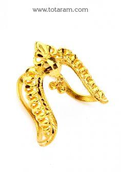22K Gold Vanki Ring: Totaram Jewelers: Buy Indian Gold jewelry & 18K Diamond jewelry