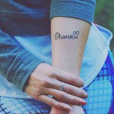 Tatuajes de Ohana con corazón para mujeres. Significado de los Ohana Tattoo.