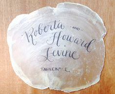 Unique Place Card Ideas Escort Card on Rock by BPCalligraphy