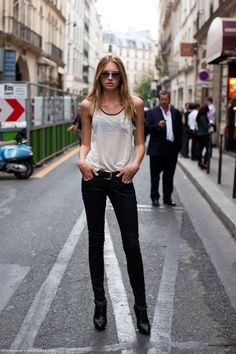 poorbutstylish:   Romee Strijd during fashion week - TheStyleShaker.com