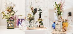 I have a soft spot for shabby chic wedding. This is an incredible wedding! He's not only snapped the beautiful moments behind this shabby chic but the chic details too. Wedding Centerpieces, Wedding Table, Wedding Decorations, Table Decorations, Chic Wedding, Shabby Chic Uk, Tea Tins, Destination Wedding Photographer, Real Weddings