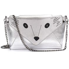 Fox Pattern Leather Crossbody Bag ($16) ❤ liked on Polyvore featuring bags, handbags, shoulder bags, fox, newchic, сумки, silver, leather crossbody handbags, leather shoulder handbags and leather cross body purse