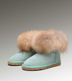 12cdfab72832 Cheap Uggs Fox Fur Mini 5854 Boots For Women [UGG UK 190] - $160.00