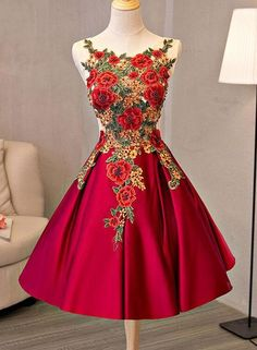 Cute A line lace short prom dress, homecoming dress,party dresses · HotProm · Online Store Powered by Storenvy Dama Dresses, Quinceanera Dresses, Sexy Dresses, Beautiful Dresses, Evening Dresses, Fashion Dresses, Prom Dresses, Long Dresses, Pretty Dresses