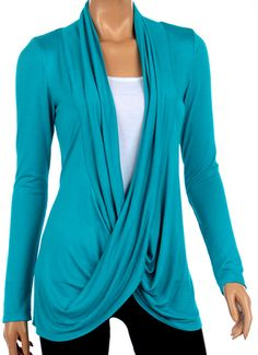 Women's crisscross cardigan can be layered over summer tank tops to make them wearable in the fall