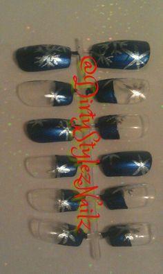 Blue with snowflakes Press Ons #art #nailart #nailgurl #nailgurlsc #nailswag #nailsdone #nailgasm #nailsaddict #nailsdesign #nailpolish #nailstagram #nailsoftheday #nailsofinstagram #nailartoninstagram #nailartclub #girls #naillacquer  #style #fashion #nailsoftheweek #nailcolor #nailartjunkie #polish #dirtystyleznailz #nails2inspire #nailsdid #nailpromote #nailsbydirtystyleznailz #nailstagram #nails #nailartpromote #nailartoohlala #nailart #nail #nailswag #nailartclub #naildesigns…