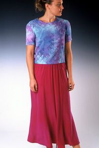 SoLace Six Panel Silk Skirt