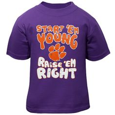 Clemson Tigers Infant Start 'Em Young T-Shirt