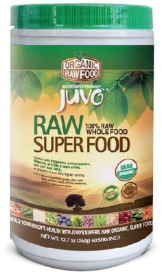 JUVO Organic Raw Super Food - JUVO Organic Raw Superfood, created entirely from whole, organic, raw foods, is loaded with powerful antioxidants, immune system stimulators, and live enzymes, all present in one daily 6 gram serving. Build your body's health with JUVO's superb, raw, organic, super food system. JUVO Organic Raw Superfood combines a carefully chosen array of the world's most nutritionally powerful organic raw foods. JUVO Organic Raw Superfood is designed to super charge your…