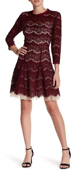 8642d19e Lace Dress With Sleeves, Nordstrom Dresses, Mock Neck, Style Blog,  Nordstrom Rack, Formal Dresses, Dresses For Formal, Formal Dress, Evening  Gowns