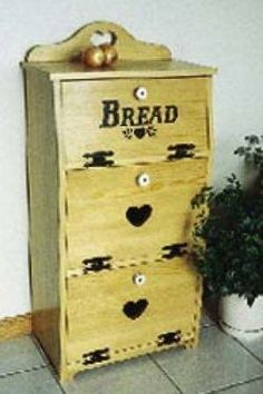 19-W2057 - Bread Box Cabinet Woodworking Plan