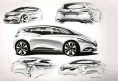 Renault Scenic 2016 JFA sketch