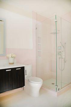 Trending Now: Blush - The Tile Shop Blog The Tile Shop, Trending Now, Corner Bathtub, Pink Tiles, Bathroom Tile Designs, Marble Mosaic, Style Tile, Blush, Bathroom Inspiration