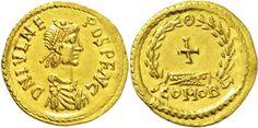 AV Tremissis ND 474-75 AD (Ravenna Mint) Julius Nepos 474-75 AD