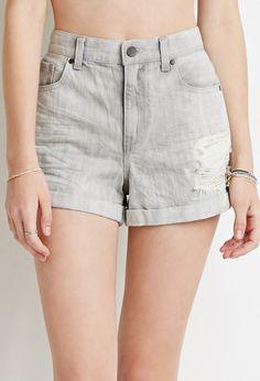 Distressed Denim Shorts | Forever 21 - 2000184410