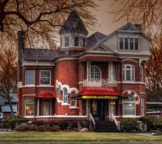 Victorian Brick House Architecture Design And Ideas Victorian Architecture, Beautiful Architecture, Beautiful Buildings, Beautiful Homes, Architecture Design, Cathedral Architecture, Religious Architecture, Abandoned Houses, Old Houses